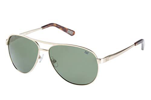 Caterpillar Armature Polarized Aviator Sunglasses, Matte Gold, 60 mm