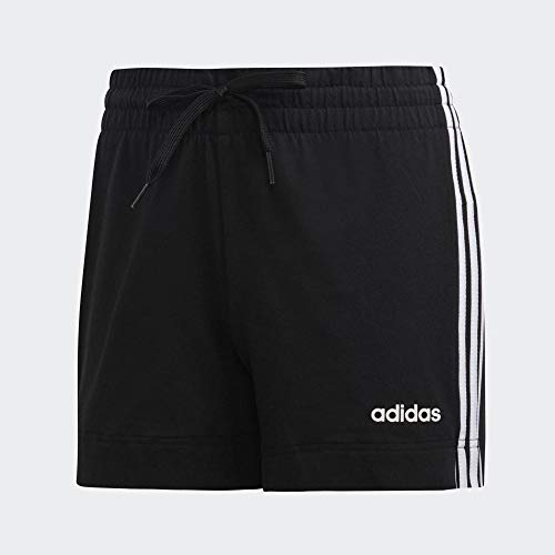 adidas W E 3s Short, Pantaloncini Sportivi Donna, Black/White, 2XL