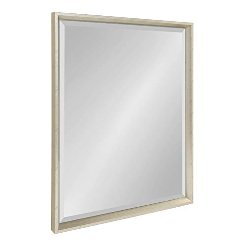 Kate and Laurel Calter Modern Decorative Framed Beveled Wall Mirror, 23.5x29.5 -