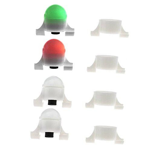 4stk LED Bissanzeiger mit Bewegungssensor Nachtangeln Bite Alarm Rod Tip Light