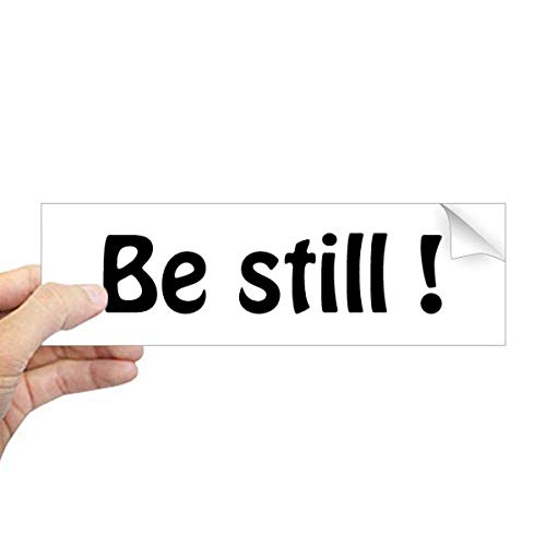 DIYthinker Be Still Text Christelijke citaten Rechthoek Bumper Sticker Notebook Window Decal