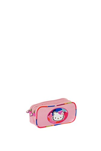 Hello Kitty Free Hugs Hps20010 Trousse 2 Compartiments Rose