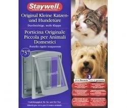 Staywell 3in1 Katzentür Hundetür Katzenklappe Hundeklappe/Grau, für Hunde & Katzen bis 3 bis 7 KG