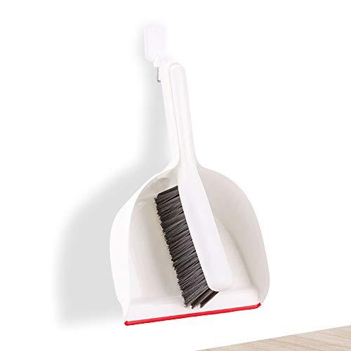 StAuoPK Mini veegmachine voor huishoudelijk gebruik, diep verzonken ontwerp kan worden gebruikt om reinigingsborstel op te hangen, bezem stofpan hoge dichtheid borstelharen set (2st)