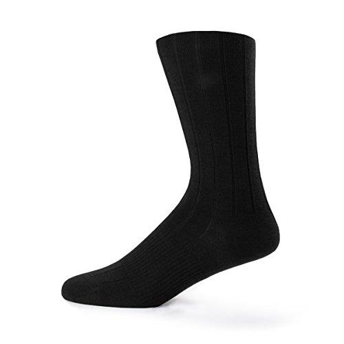 Minus33 Merino Wool Urban Dress Sock Large Noir
