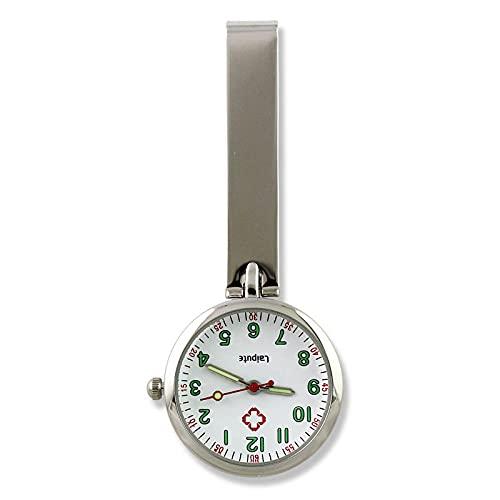 YYMY Relojes de Enfermera de Broche,Cofre de Enfermera de Noche de Color con Clip, Hangar de Bolsillo médico Creativo en ángulo Recto-Plata 3