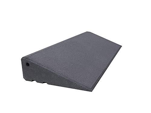 Türschwellenrampe Excellent 750/95 mm hoch aus Gummigranulat hochverdichtet (grau)