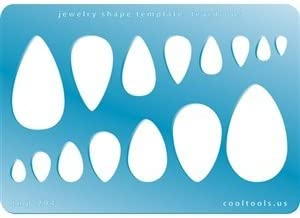Cool Tools - Jewelry Shape Template - Teardrops