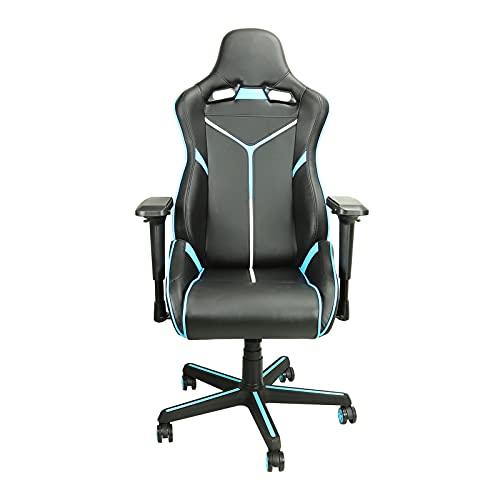 Silla de juego, giratoria reclinable con reposabrazos, silla de computadora de altura ajustable, silla de oficina para adultos