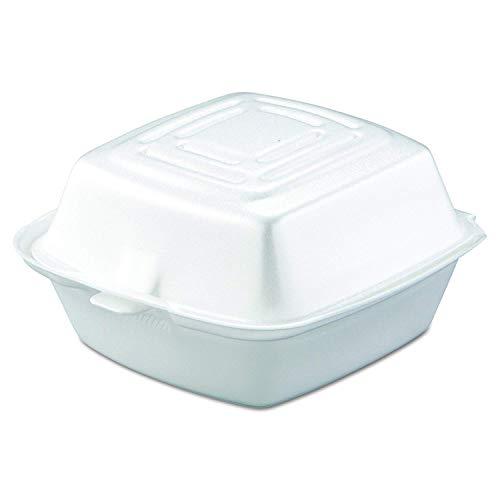 Carryout+Food+Container%2c+Foam%2c+1-Comp%2c+5+1%2f2+x+5+3%2f8+x+2+7%2f8%2c+White%2c+500%2fCarton