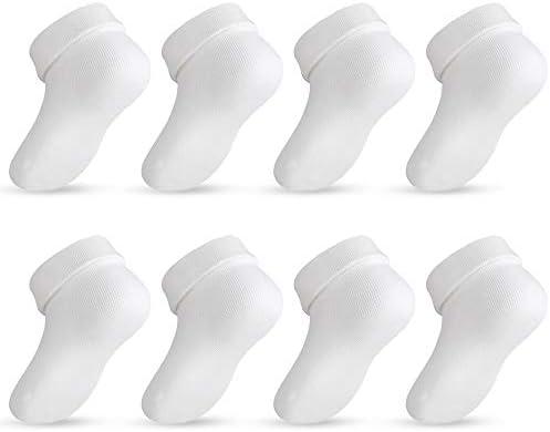 Lictin Newborn Socks Boys Girls 8 Pairs Unisex Baby Infants Cotton Socks Baby Ankle Socks for product image
