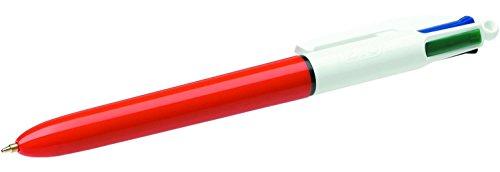 BIC - Lote de 3 bolígrafos de bola, 4 colores, punta fina, 4 colores clásicos
