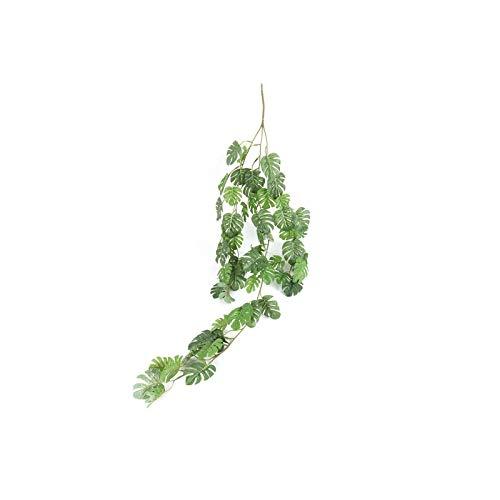 Trouek Artificial Green Eucalyptus Garland Leaves Vine Fake Vines Rattan Artificial Plants Ivy Wreath Wall Decor Wedding Decor-Vine Leaves 13-