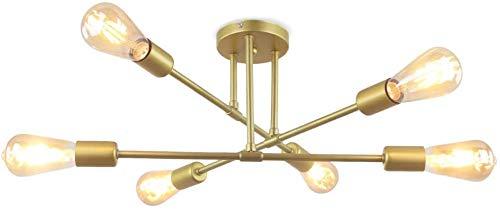 Lámpara de Techo Vintage con 6 Luces E27 Luz de techo Interior...