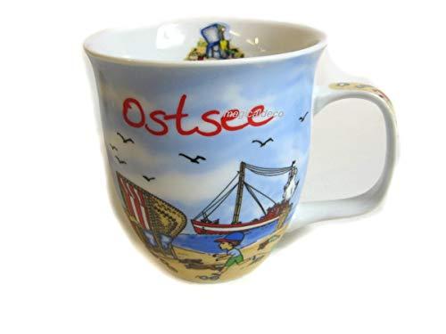 Porzellan- Große Tasse, Kaffeepott, Becher- Ostsee maritim- deutsches Produktdesign