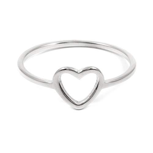 24 JOYAS Anillo Corazón de Acero Inoxidable romántico a tu Pareja (7)