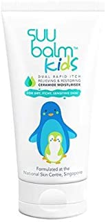 #MC SUU BALM Kids Dual Rapid Itch Relieving & Restoring CERAMIDE MOISTURISER Cream 45ML- Contains a Specific Ingredient to Provide Rapid Itch Relief for Kids