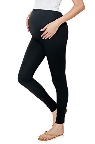 JMITHA Damen Lange Umstandsleggings Legging für Schwangere Lange Leggings/Hose (Schwarz, 2XL)