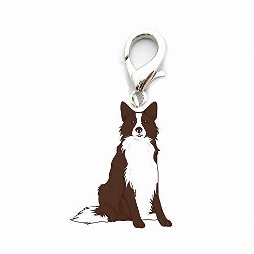 Alivier Identificación de Perro Etiqueta de Coche Llavero, Linda identificación de Perro Etiquetas de Metal Llavero de Perro llaveros de Coche
