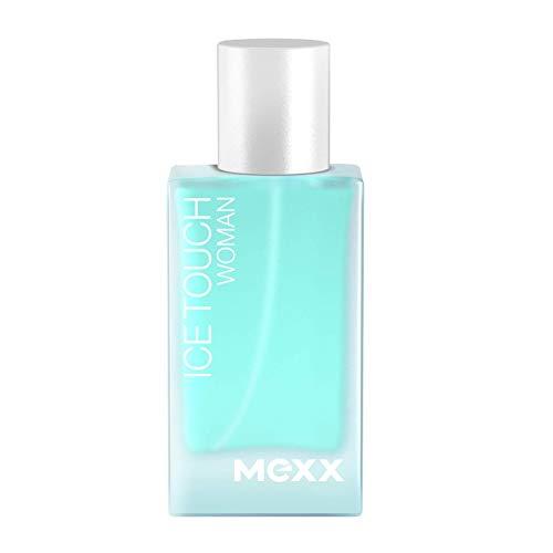 Mexx Ice Touch Woman, Eau de Toilette Natural Spray, Erfrischendes Damen Parfüm mit fruchtig-blumigen Noten, 1 er Pack (1 x 15ml)
