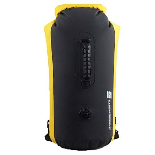 Yowablo Fähiger aufblasbarer wasserdichter Packsack Rolltop Trockener Kompressionssack hält die Ausrüstung trocken (60L,Schwarz)
