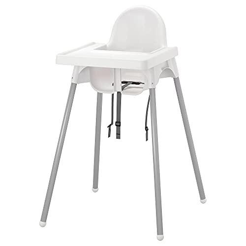 IKEA ANTILOP Highchair with Tray, White/Silver-Colou