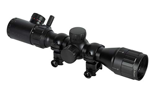 Monstrum 3-9x32 AO Rifle Scope with Illuminated Range Finder Reticle and Parallax Adjustment | Black