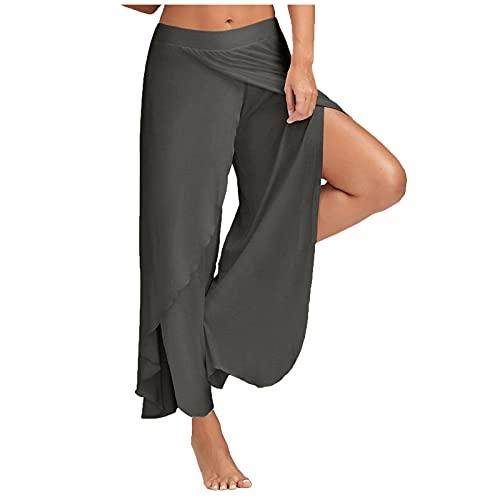 ldgr Baggy Yoga Pants for Women Workout Running Jogger Walking Sweatpants,High Split Stretch Exercise Yoga Leisure Pants