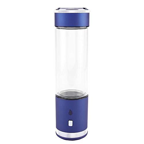 Acogedor Hydrogen Water Cup,Tragbare Wasserstoffreiche Wasserfilter-Flasche USB, die Lonizer Cup Filter Generator auflädt,1300-2800 ppb,400ml,3W 5V