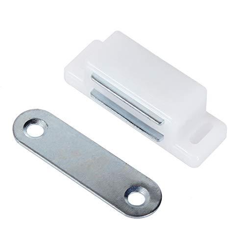 10x Magnetschnäpper Möbelmagnet in 3 Ausführungen zum auswählen Weiß oder Braun (45x14, Weiss)