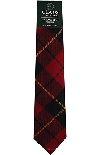 I Luv Ltd Wallace Clan 100% Wool Scottish Tartan Tie