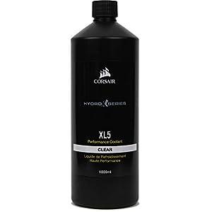 Corsair Hydro X Series, XL5 Refrigerante de rendimiento, 1 l (Color translúcido brillante, Duradero Premezclado Rendimiento, con los Inhibidores Avanzados Anticorrosión y Antibacterias) Transparente