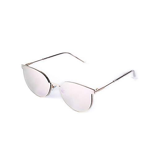 Gafas de Sol,Gafas de sol de montura completa de metal para mujer Gafas de sol de cara redonda Gafas de sol de ojo de gato, IMG02 Blanco mercurio
