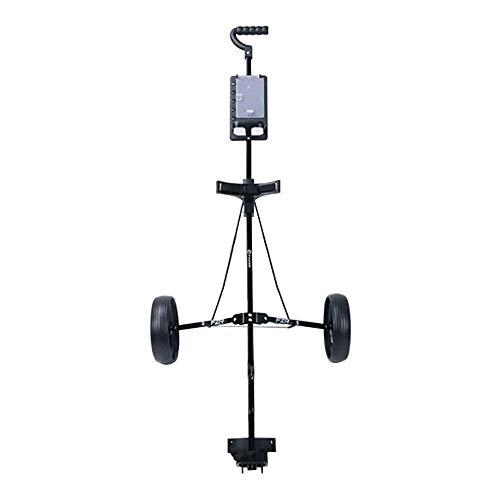 HYQW Golf Push Carts, Faltbarer Dreirad Golf Trolley, Ball Cart Aluminium Trolley Mit Handbremse,Black