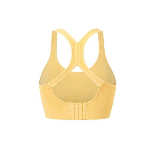 Mooi Sport Ondergoed vrouwen die Yoga Vest Verzameld Fitness Kleren Beautiful Back Shock Bra Comfortabel (Color : Yellow, Size : M)