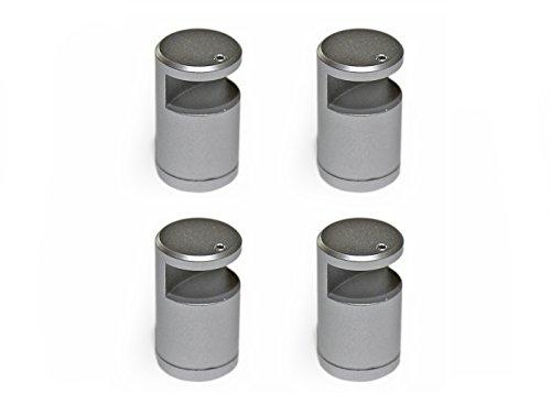 DistanzialeBorder per targhe, kit 4 pezzi, alluminio color argento, blocca lastre da sp.10 mm