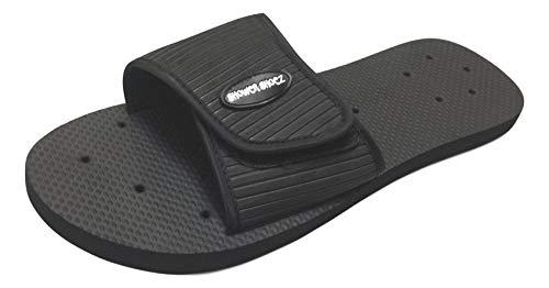 Shower Shoez Men's Non-Slip Shower Gym Pool Dorm Water Slide Sandals