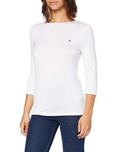 Tommy Hilfiger Damen Boat Neck Tee 3/4 Hemd, White, XX-Large