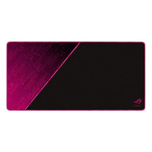 ASUS ROG Sheath Electro Punk Gaming Mauspad (extra groß, rutschfest, optimierte Stoffoberfläche) schwarz / pink