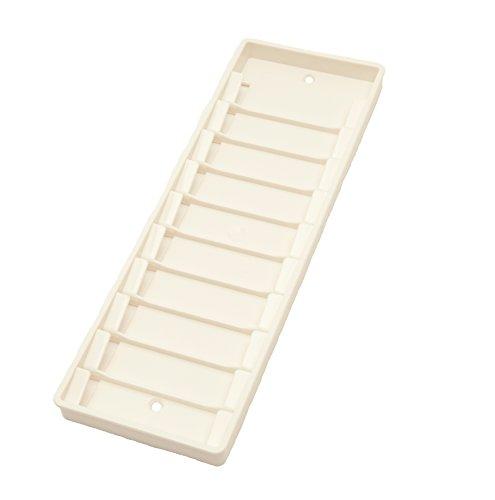 Karteo® Wandkartenhalter weiß   Kartenhalter   Wandhalter für bis zu 10 Karten 86 x 54 mm   für Dienstausweise Gesundheitskarten