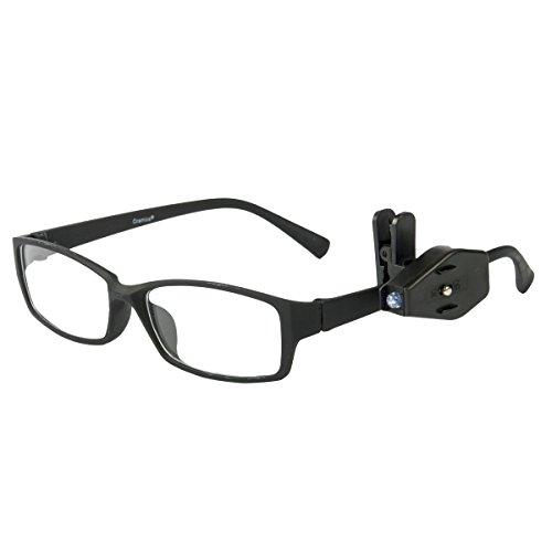 Oramics LED Clip für Brillen justierbar - flexible Brillenleuchte für alle Brillenarten - abnehmbare Leselampe für Brillenträger - Brillenclip zur Befestigung am Brillenrahmen (1 Stück)