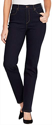 Gloria Vanderbilt Women's Classic Amanda High Rise Tapered Jean, Rinse Noir, 14 Tall