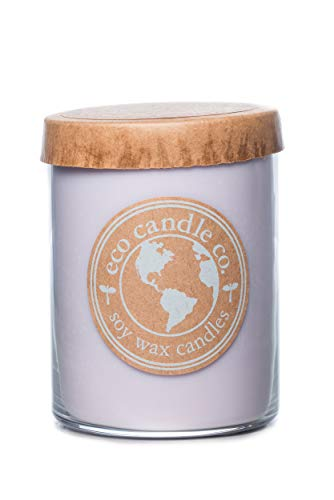 Eco Candle Co. Recycled Candle, Lavender Dreams, 16 oz. - Scents of Lavender, Lilac, Sage, & Mimosa - 100% Soy Wax, No Lead, Kraft Paper Label & Lid, Hand Poured, Made from Midwest Grown Soybeans