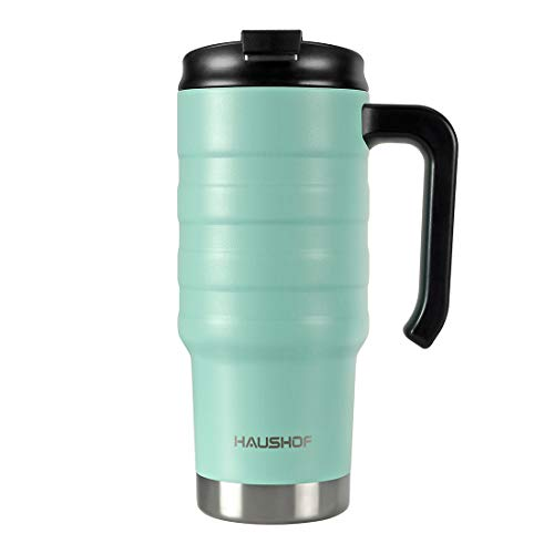 insulated travel mug with handle - 6