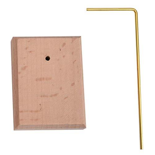 Soporte de exhibición simple de la joyería del metal de la base de madera para el estante que cuelga de los pendientes, bandeja de los pernos prisioneros del anillo