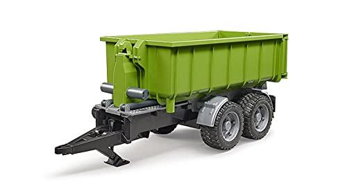 Bruder 02035 - Hakenlift-Anhänger für Traktoren, inklusive Kupplungsadapter