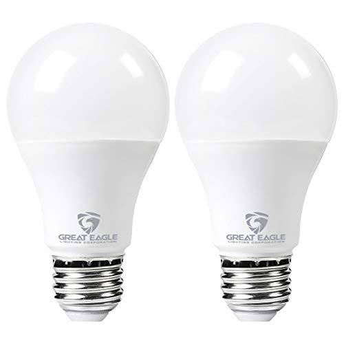 Great Eagle LED 23W Light Bulb (Replaces 150W – 200W) A21 Size with 2600 Lumens, Non-Dimmable, 2700K Warm White, UL Listed (2-Pack)
