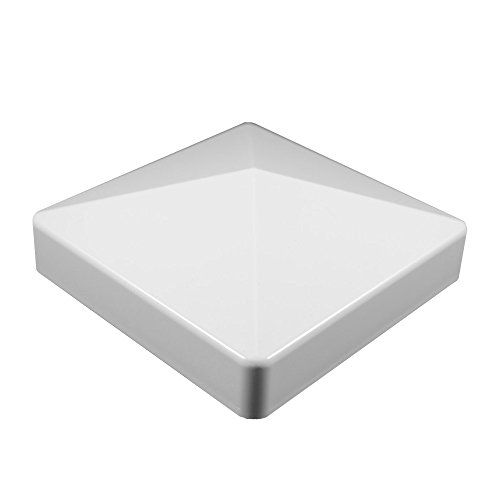 WEATHERABLES Durable White PVC Vinyl External Pyramid Post Cap for A True 4 Inch x 4 Inch Post   Single Pack   AWCP-EXT-4