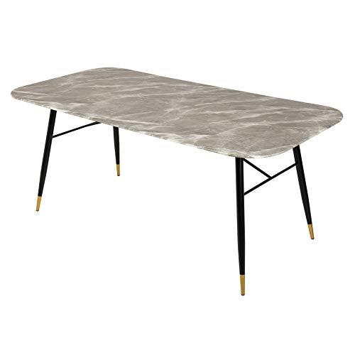 riess-ambiente.de Design Esstisch Paris 180cm Glastisch Marmor-Optik grau Konferenztisch Küchentisch Tisch