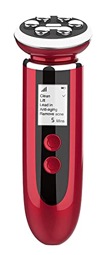 Máquina facial multifuncional de la belleza del ccsme del Massager para el cuidado de piel Limpiador facial antienvejecedor antiarrugas, rojo